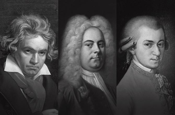 Beethoven-Handel-Mozart