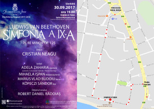 Afis si harta deschiderea stagiunii 2017 - 2018 Filarmonica de Stat Arad