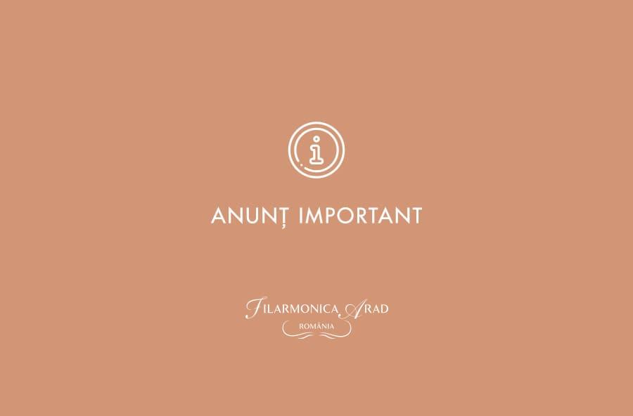 anunt important